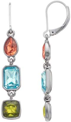 Vera Wang Simply Vera Multi Colored Simulated Crystal Linear Drop Earrings