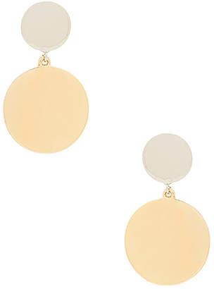 Rebecca Minkoff Two Tone Medallion Drops