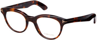 Tom Ford TF5378 Dark Brown Havana Cateye Frames