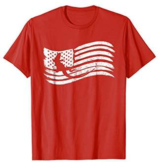 American Flag T-Shirt With Lizard Vintage Look