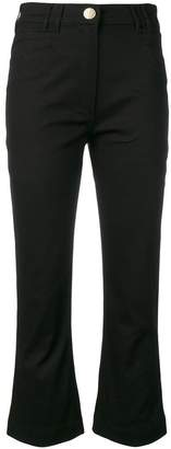 Balmain crop flare jeans
