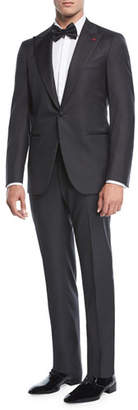 Isaia Two-Piece Tuxedo Suit, Charcoal
