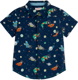 Cath Kidston Bears In Space Kids Short Sleeve Shirt