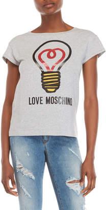 Love Moschino Graphic Logo Tee