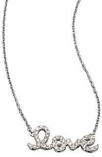 Sydney Evan Women's Love Diamond& 14K White Gold Small Pendant Necklace