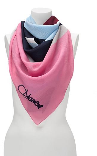 Diane von Furstenberg Braden Silk Scarf In Zebra Wave Scarf Pink