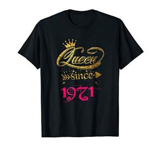 Queen Since 1971 47th Birthday Gift T-shirt for Girl Women
