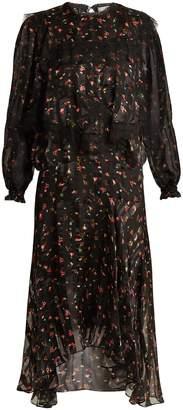 Preen by Thornton Bregazzi Antoinette floral-print silk-devoré dress