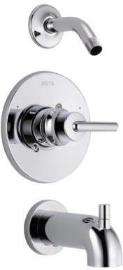 Delta Trinsic Bathroom Tub and Shower Faucet Trim with Lever Handle and Monitor