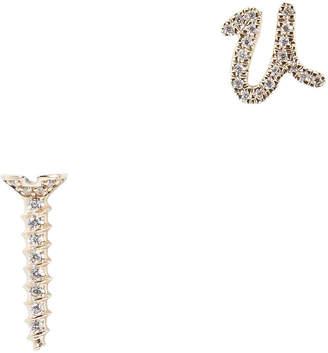 Sydney Evan Screw U Stud Gold Earrings