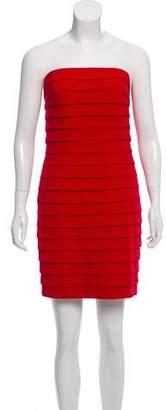 Carmen Marc Valvo Strapless Mini Dress