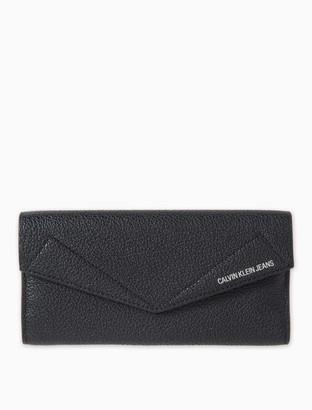 Calvin Klein Pocket Leather Large Long Fold Wallet