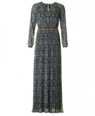 Michael Kors Long Sleeved Printed Maxi Dress