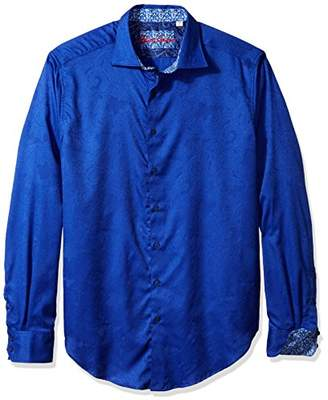 Robert Graham Men's Tall Size Rosendale L/s Classic Fit Shirt