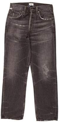 Citizens of Humanity High-Rise Straight-Leg Jeans