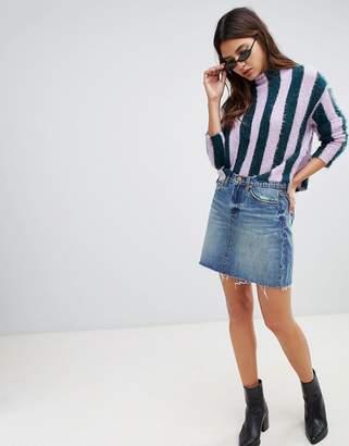 Blank NYC raw hem mini skirt