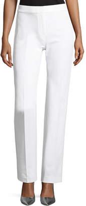 Elie Tahari Leena Stretch-Cotton Straight-Leg Pants