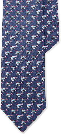Polo Ralph LaurenPolo Ralph Lauren Seaplane-Print Silk Narrow Tie