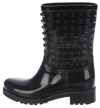 Valentino Rockstud Rain Booties