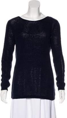 Rachel Zoe Open Knit-Trimmed Sweater