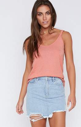 Rusty Bare Scoop Tank Sunset Coral
