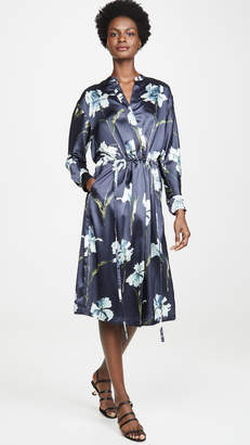Vince Iris Print Satin Dress