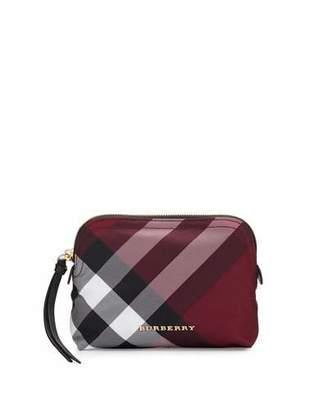 Burberry Medium Zip-Top Check Pouch Bag, Plum $175 thestylecure.com