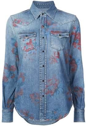 Saint Laurent rose print shirt