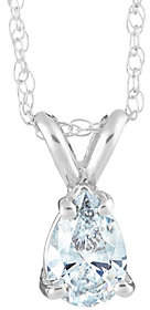 Affinity Diamond Jewelry Pear Shaped Diamond Pendant, 14K White Gold, 1ct, by Affinity