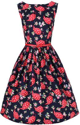 Dahlia Ro Rox 1950's Pin Up Vintage Retro Flare Party Dress