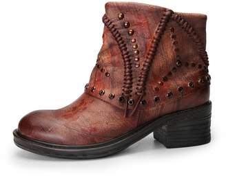 YiCharm Handmade Women's Bohemian Boho Chic Vintage Style Lace-up Ankle Bootie/Leather Boots with rivets/Low Heel/