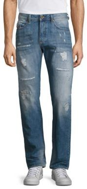 Diesel Diesel Straight-Fit Distressed Jeans