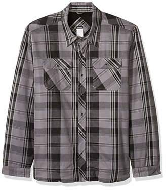 Dickies Men's Modern Fit Snap Front Shirt Jacket Big