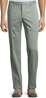 Zanella Parker Cotton-Stretch Flat-Front Trousers