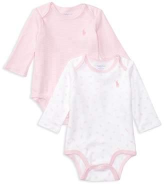 Ralph Lauren Girls' 2-Piece Bodysuit Set - Baby