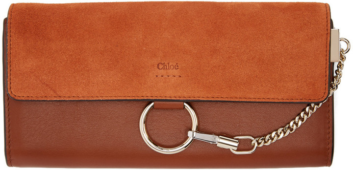 Chloé Chloé Brown Medium Faye Wallet