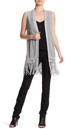 Cullen Fringed Silk Blend Mesh Vest $180 thestylecure.com