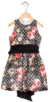Helena Girls' Lace Flare Dress