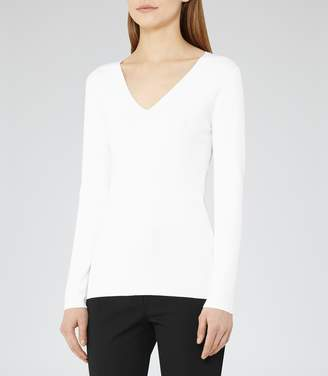 Reiss Alessa Knitted V-Neck Top