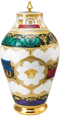Versace Baroque And Roll Vase With Lid