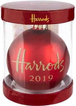 Harrods Dated Logo Bauble 2019