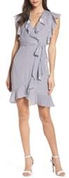 Pippa Elizabeth Crosby Ruffle Stripe Wrap Dress