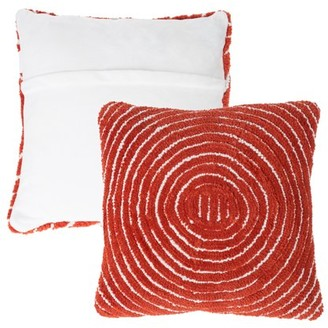 """Modern Geometric Decorative Throw Pillow and Insert-Home Decor Concentric Circle Accent Pillow with Hidden Zipper, 18"""" by Somerset Home"""