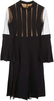Capucci Plisse Dress With Lace