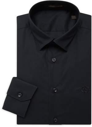 Roberto Cavalli Slim-Fit Point-Collar Dress Shirt
