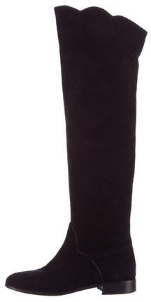 Saint LaurentYves Saint Laurent Suede Over-The-Knee Boots