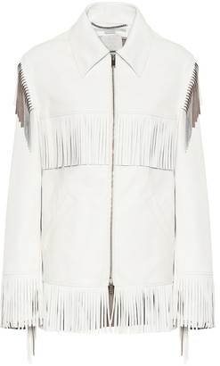 Stella McCartney Fringed faux-leather jacket