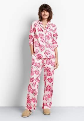 fd0a4e8b2e Hush Hydrangea Piped Cotton Pyjamas