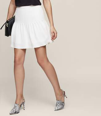 Reiss Lexi Pin-Tuck Mini Skirt