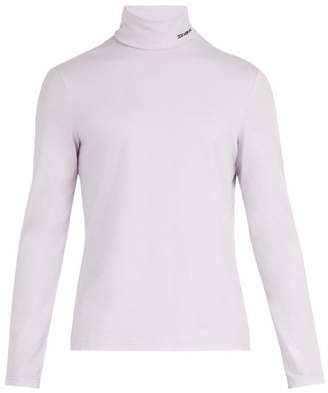 Calvin Klein Roll Neck Cotton Blend Top - Mens - Grey
